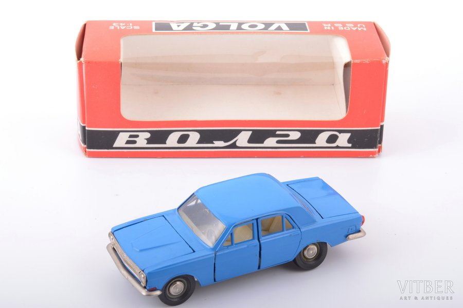 car model, GAZ 24 Volga Nr. A14, metal, USSR, carbon interior