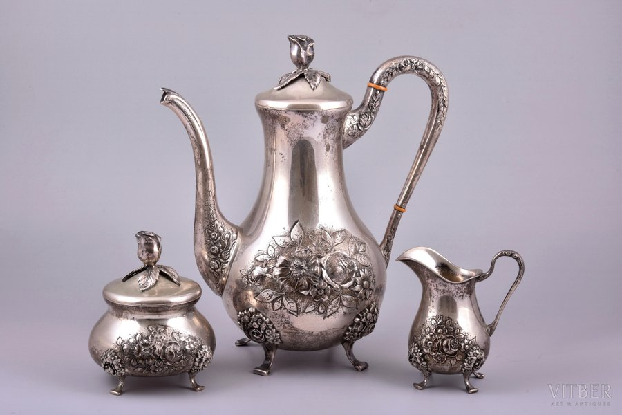 service of 3 items: coffeepot,...