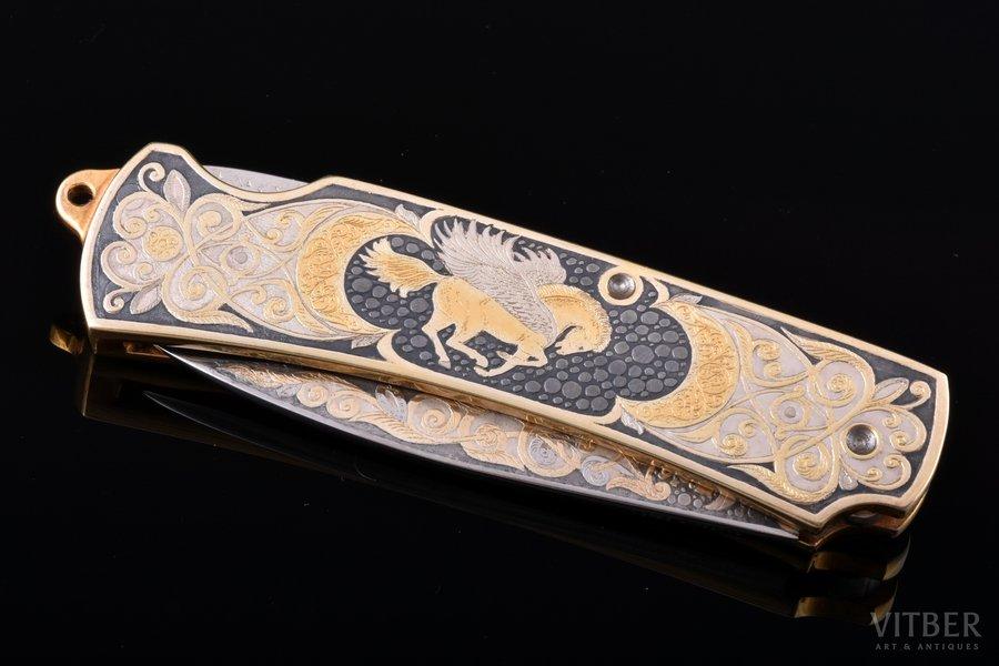 saliekamais nazis, Zlatousta, apzeltīts, tērauds, Krievijas Federācija, 2006 g., 18 / 10.6 cm