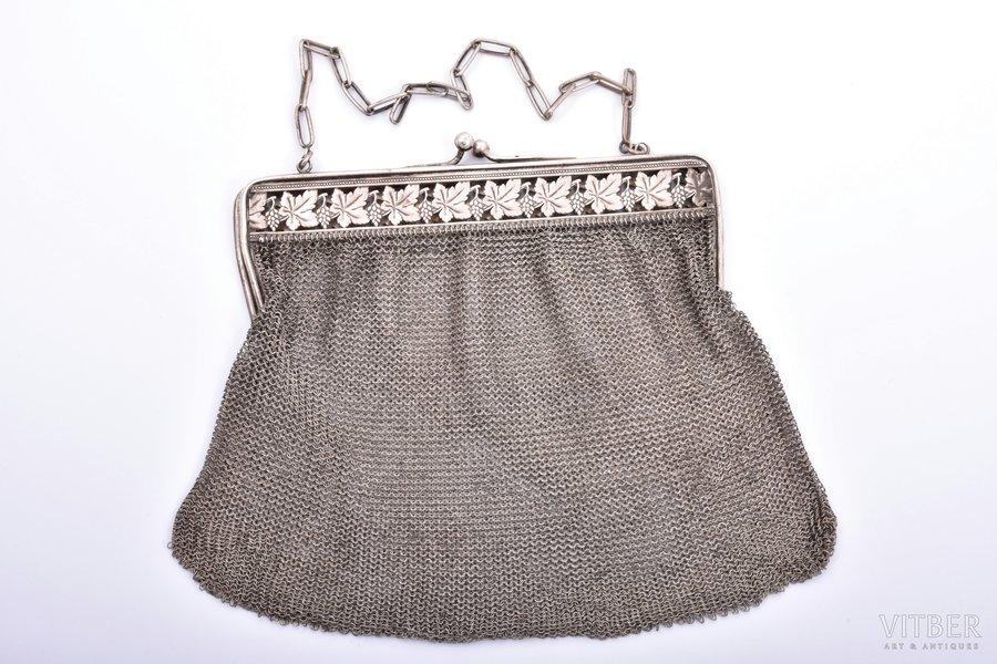 teātra somiņa, sudrabs, pinums, 306.65 g, 18 x 21.5 cm