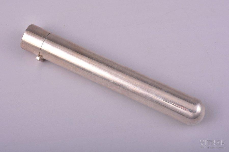 kapsula cigāram, sudrabs, 925 prove, 77.75 g, 15.2 cm, Ø (iekšpuse) 1.9 cm