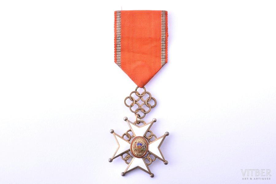 order, Cross of Approval, 5th class, silver, enamel, Latvia, 1938-1940