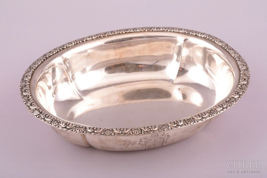 candy-bowl, silver, 84 standart, 1873, 300.9 g, St. Petersburg, Russia, 19.1 x 15.8 cm