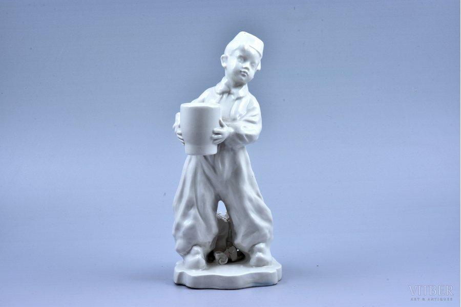 "figurine, Candlestick ""Turk"", porcelain, Riga (Latvia), USSR, sculpture's work, molder - Aldona Elfrida Pole-Abolina, the 50ies of 20th cent., 22 cm"