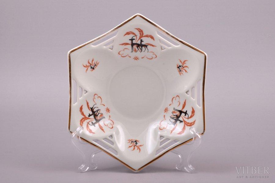 candy-bowl, porcelain, M.S. Kuznetsov manufactory, Riga (Latvia), 1934-1937 cm, third grade
