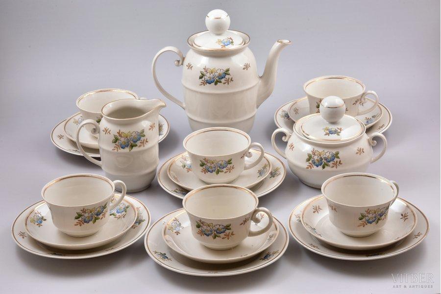 service, Ping-pong, porcelain, Rīga porcelain factory, Riga (Latvia), USSR, the 50ies of 20th cent., third grade