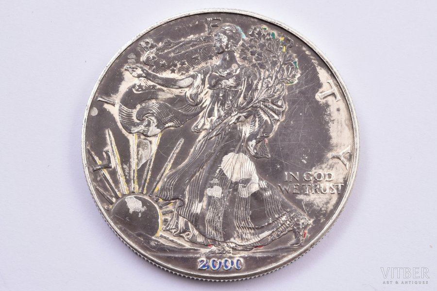 1 dollar, 2000, silver, USA, 31.18 g, Ø 40.5 mm, XF