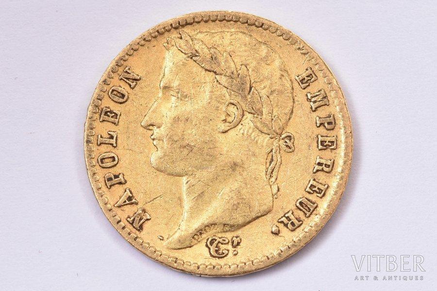 20 francs, 1813, A, gold, France, 6.40 g, Ø 21.1 mm, XF