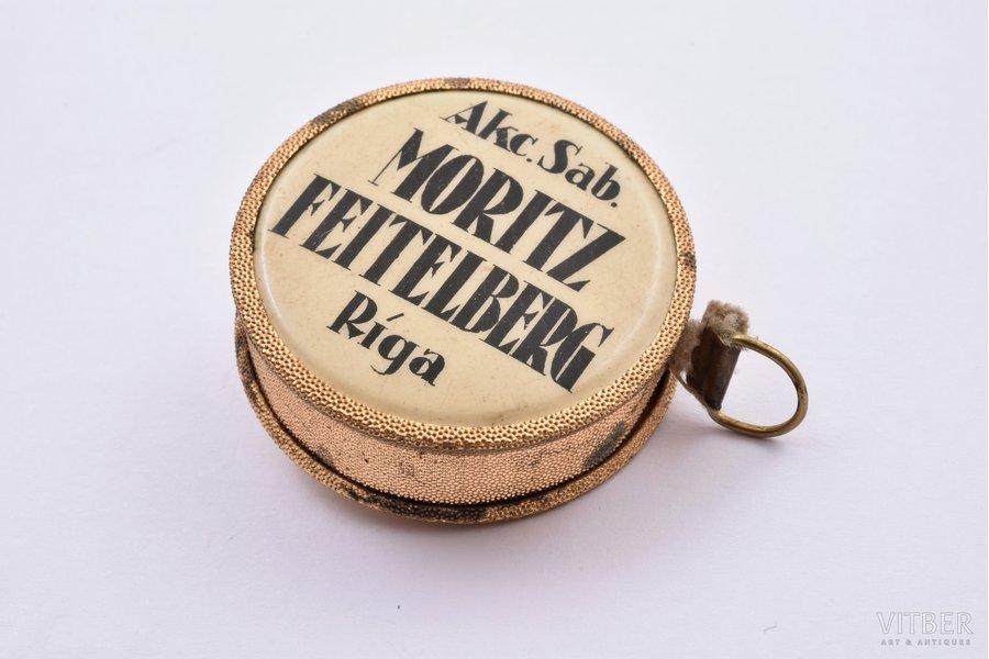tape, promotional MORITZ FEITELBERG, Latvia, the 30ties of 20th cent., 3.7 cm, return spring retainer
