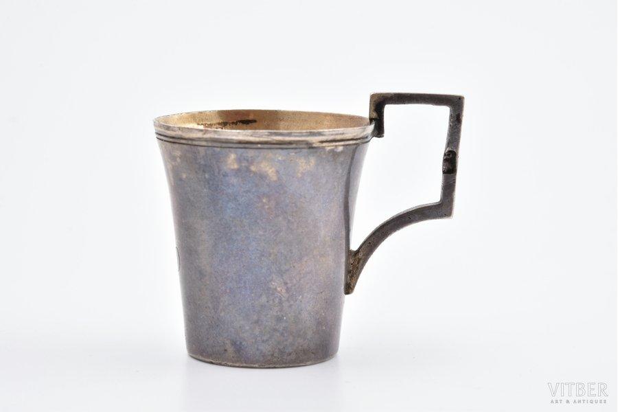 charka (little glass), silver, 834 standart, gilding, 1824-1832, 20.30 g, Italy, h 3.8 cm, Naples