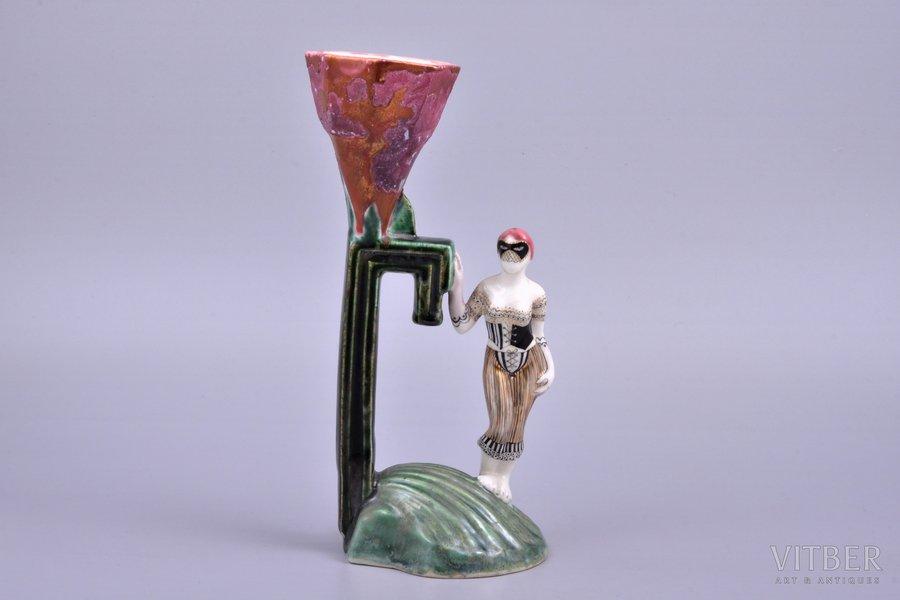 figurine, Burlesque, porcelain, Riga (Latvia), sculpture's work, molder - Antonina Pashkevitch, 2006, 24 cm