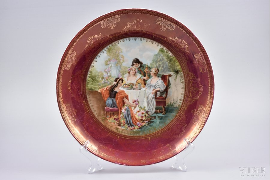 wall plate, porcelain, Austria, the border of the 19th and the 20th centuries, 29.8 cm