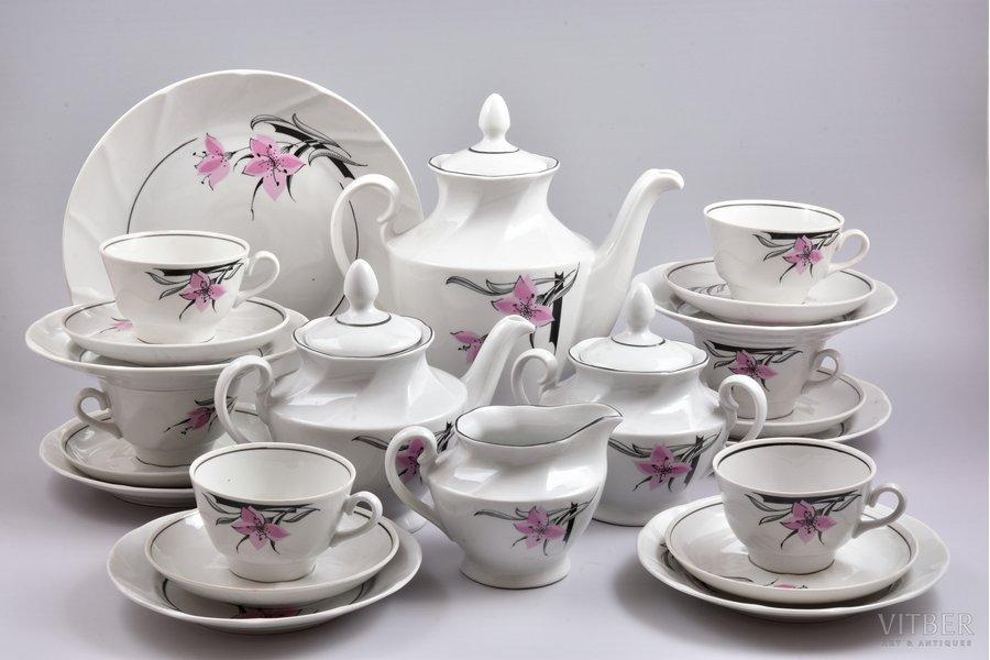 "service, ""Victoria"", porcelain, Rīga porcelain factory, shape by Taisiya Poluikevitch, Riga (Latvia), USSR, the 80ies of 20th cent., first grade"