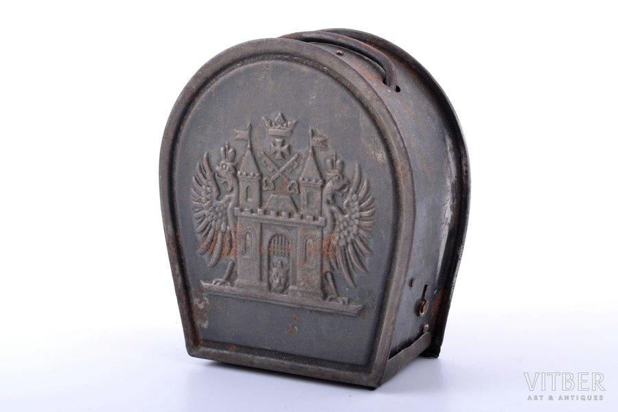 moneybox, Riga City Savings Bank, metal, Latvia, Russia, 10.6 x 9.5 x 3.8 cm