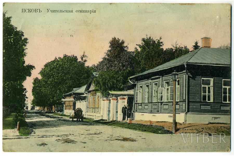 advertising publication, Pskov, teacher seminary, Russia, beginning of 20th cent., 13,8x9 cm