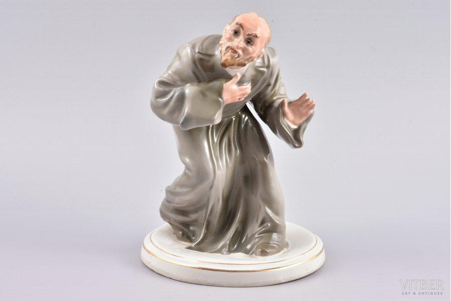 figurine, Сlerk, premium grade (GOLD MARK), porcelain, Riga (Latvia), USSR, Riga porcelain factory, molder - Leon Tomoshitsky, the 50ies of 20th cent., 18 cm