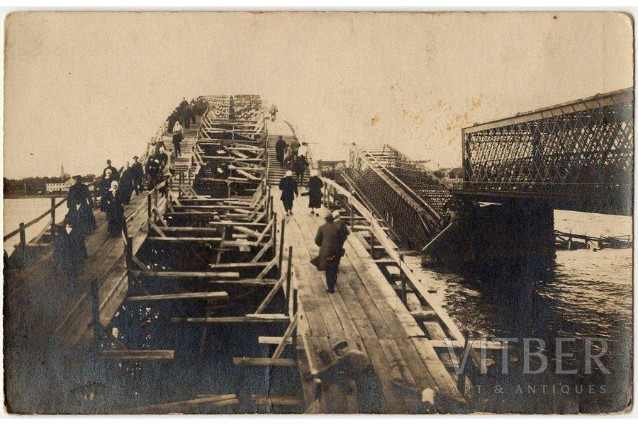 photography, Riga, blown up railway bridge, Latvia, 8.8 x 13.8 cm