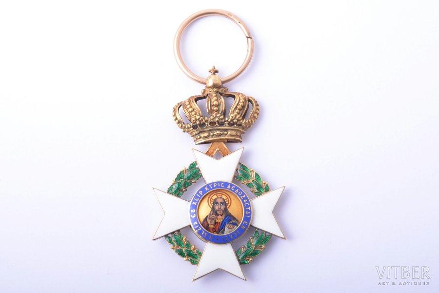 Order of the Redeemer, gold, enamel, 18 k standart, Greece, 1935-1984, 55.5 x 33.9 mm, 11.14 g