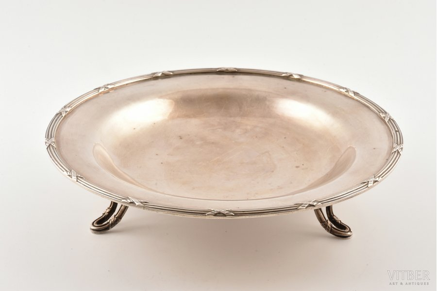 candy-bowl, silver, 950 standart, 412.10 g, France, 23 cm