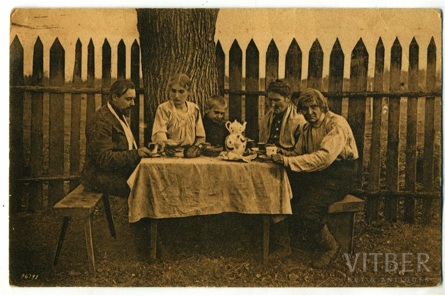"postcard, fictional film ""Es karā aiziedams"" (""When I Went Away to War""), Latvia, 20-30ties of 20th cent., 13,6x8,8 cm"