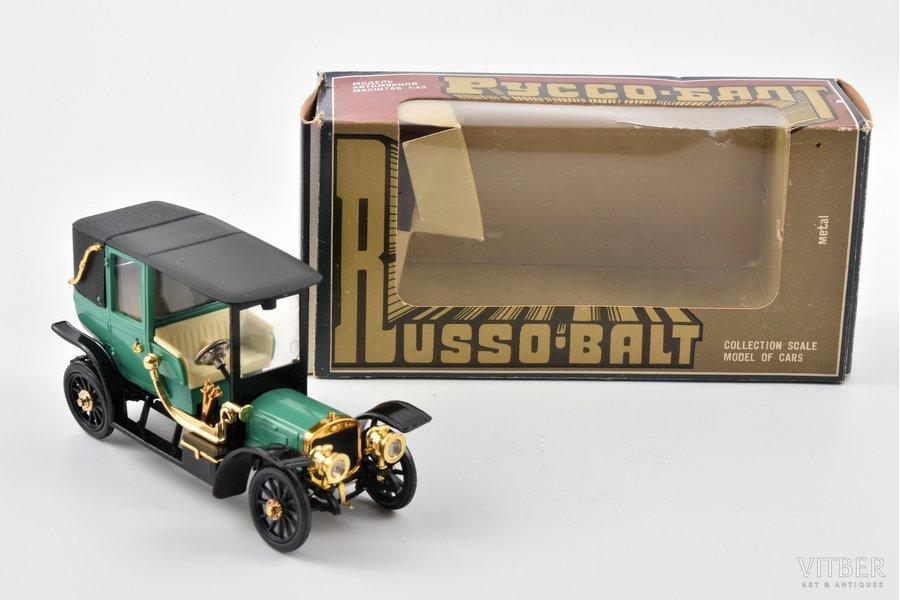 auto modelis, Russo-Balt S24/30 Landole 1910 Nr. A35, metāls, plastmasa, PSRS