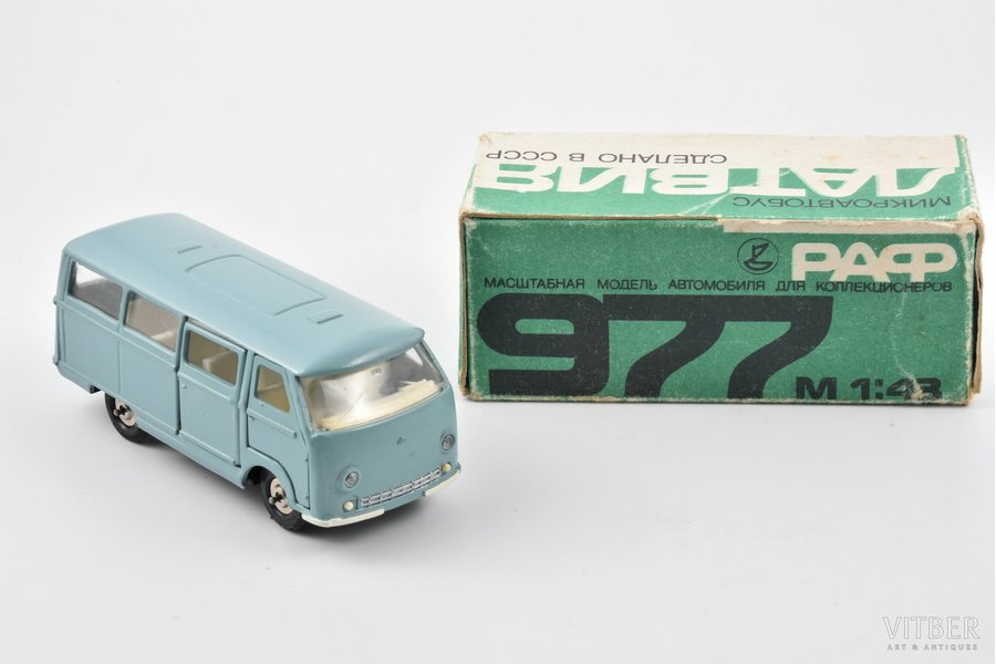 "car model, RAF 977 ""Latvia"", metal, USSR, 1982"