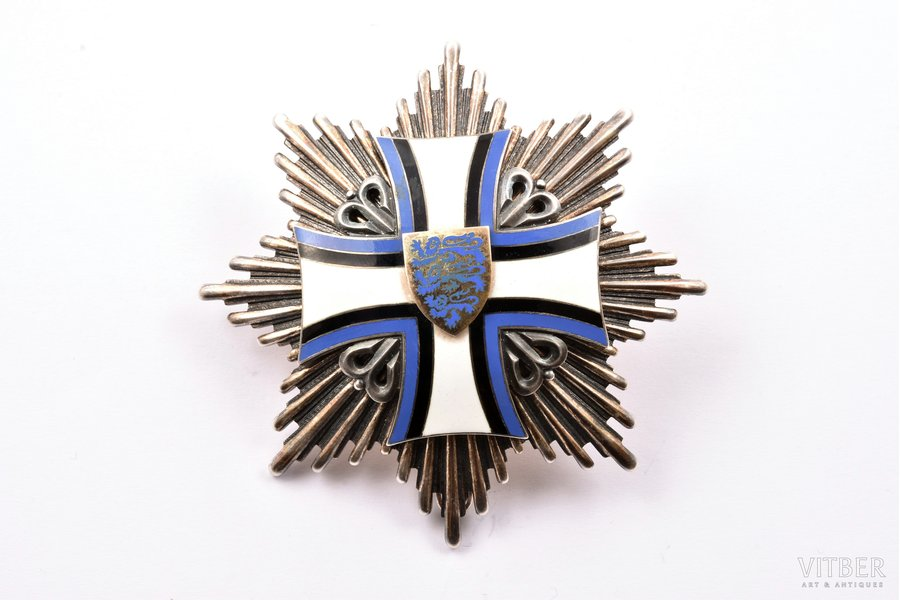 star of the Order of the Cross of Terra Mariana, Estonia, 79 x 79.4 mm, 108.30 g