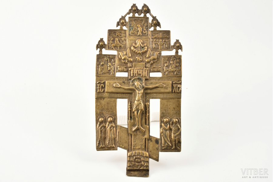 cross, The Crucifixion of Christ, copper alloy, Russia, the 18th cent., 25.8 x 12.5 cm, 415.25 g.