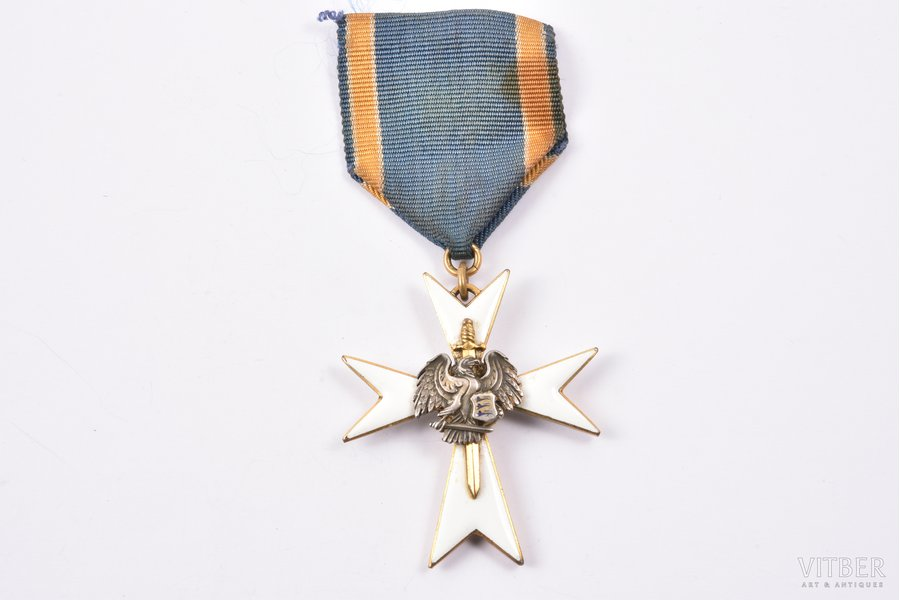 White Cross Order of the Home Guard, 3rd class, Estonia, 20-30ies of 20th cent., 45.4 x 39 mm