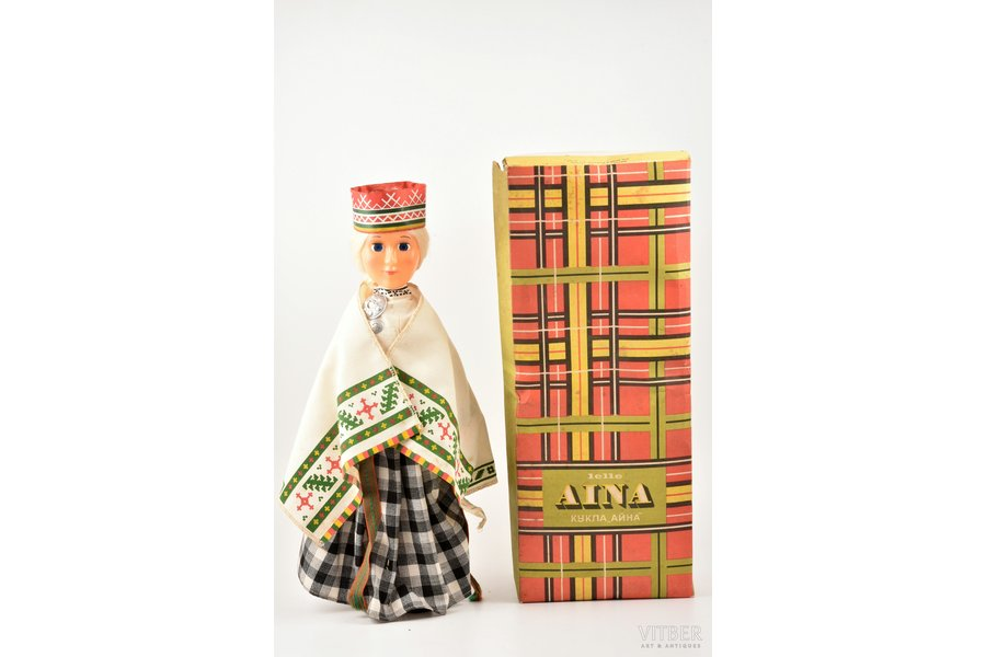 """doll, """"Aina"""", manufacturer """"Straume"""", plastic, Latvia, USSR, the 70-80ies of 20th cent., h ~45 cm"""