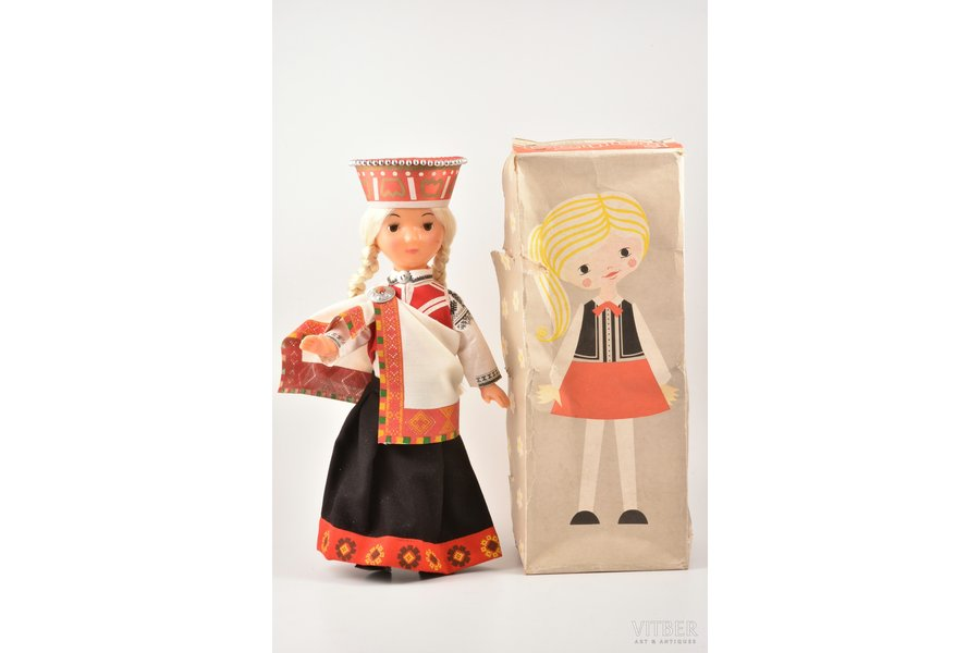 """doll, """"Baiba"""", manufacturer """"Straume"""", plastic, Latvia, USSR, the 70-80ies of 20th cent., h ~45 cm"""