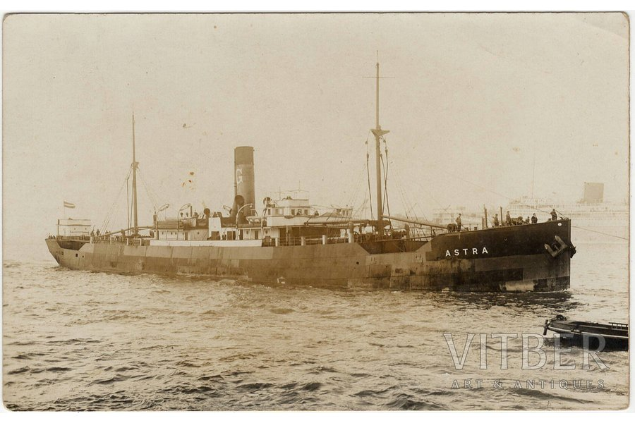 "photography, steamship ""Astra"", Latvia, 20-30ties of 20th cent., 8.9 x 14 cm"