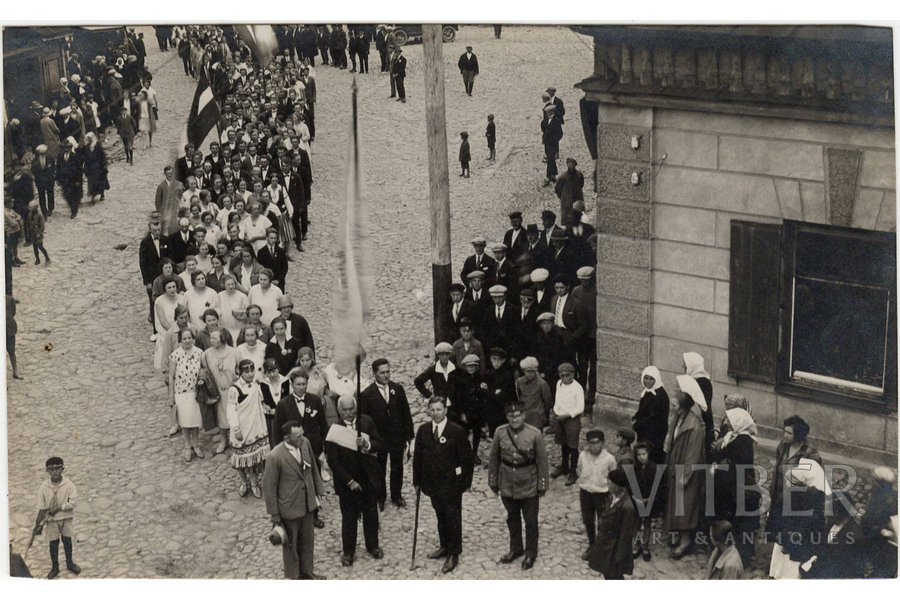 photography, procession, Latvia, 20-30ties of 20th cent., 8.5 x 13.7 cm