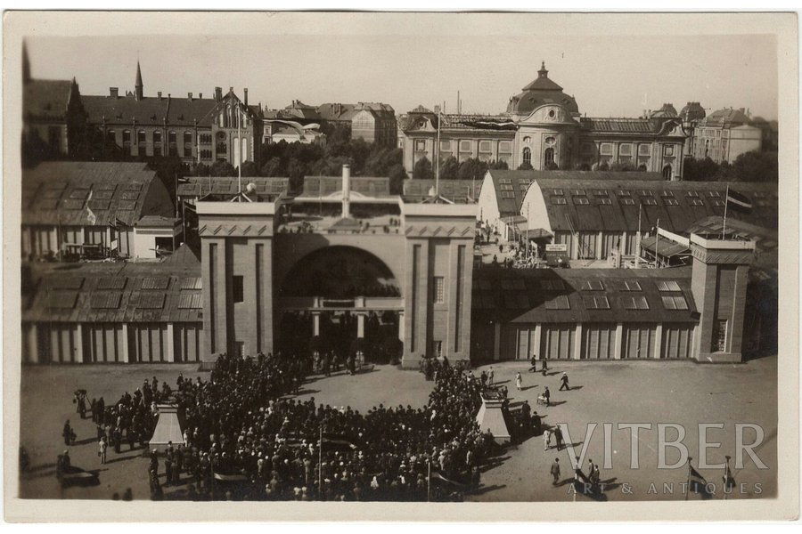photography, pavilion on the Esplanade, Latvia, 20-30ties of 20th cent., 8.9 x 13.9 cm