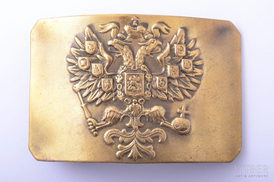 buckle, Imperial Russian Army, 5.3 x 7.8 cm, Russia