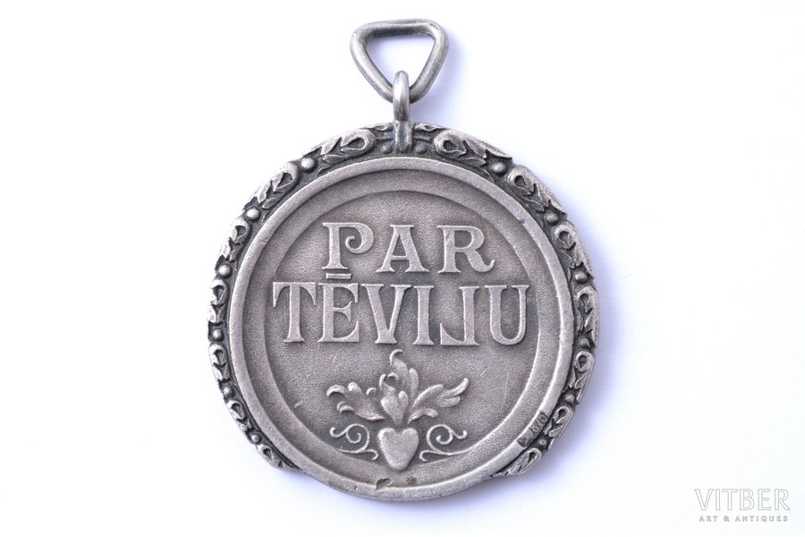 Medal of Honour of the Order of the Three Stars, 2nd class, silver, 875 standart, Latvia, 20-30ies of 20th cent.