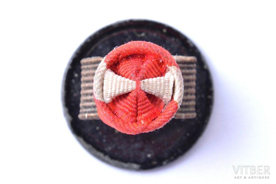 buttonhole insignia, Cross of Approval, 3rd class, Latvia, 1938-1940, Ø 8.9 mm