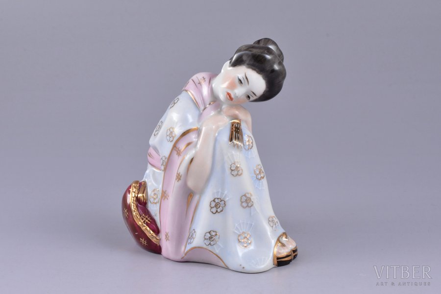 figurine, Chio Chio San, porcelain, Riga (Latvia), USSR, Riga porcelain factory, molder - Rimma Pancehovskaya, the 50ies of 20th cent., 9.7 cm