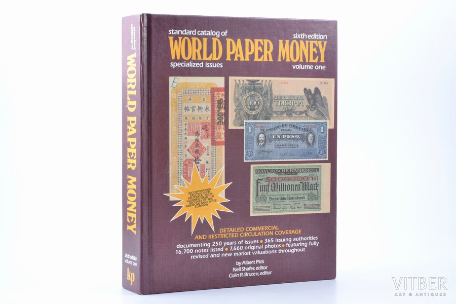 """""""Standard catalog of world paper money, specialized issues. Volume one"""", Albert Pick, Krause Publications"""