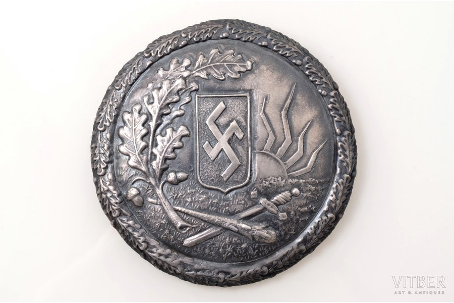 sakta, with fire cross, 23.31 g., the item's dimensions Ø 7.6 cm, the 20ties of 20th cent., Latvia, defect