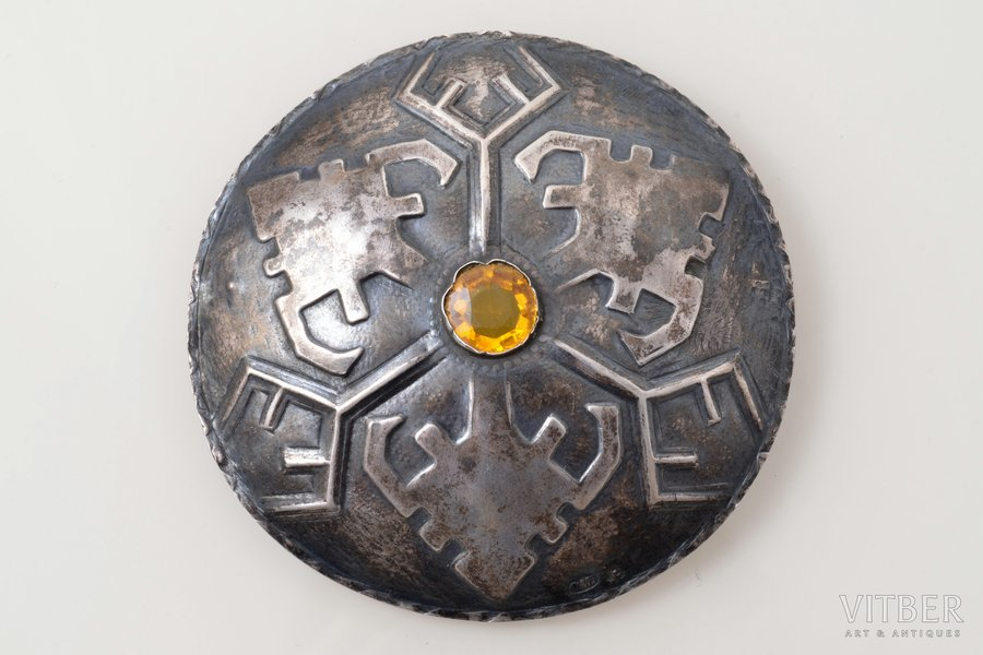 sakta, silver, 875 standart, 10.03 g., the item's dimensions Ø 6.8 cm, the 20ties of 20th cent., Latvia