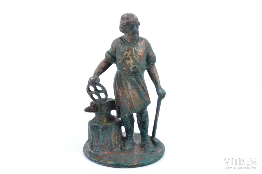 "figurine, ""Blacksmith"", bronze, h 11.8 cm, weight 590.05 g."