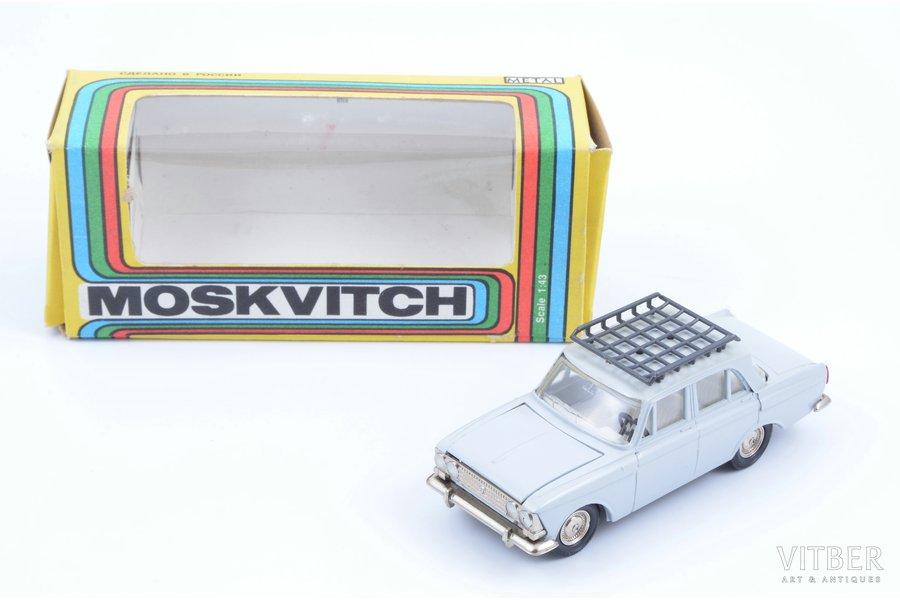 car model, Moskvitch 408, metal, USSR, ~ 1990