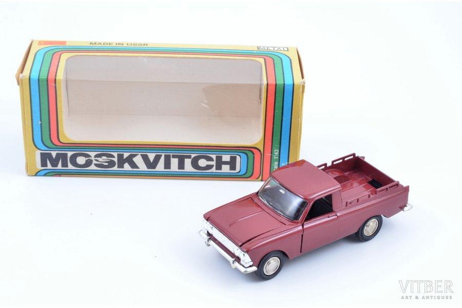 car model, Moskvitch pickup, metal, USSR, ~ 1990