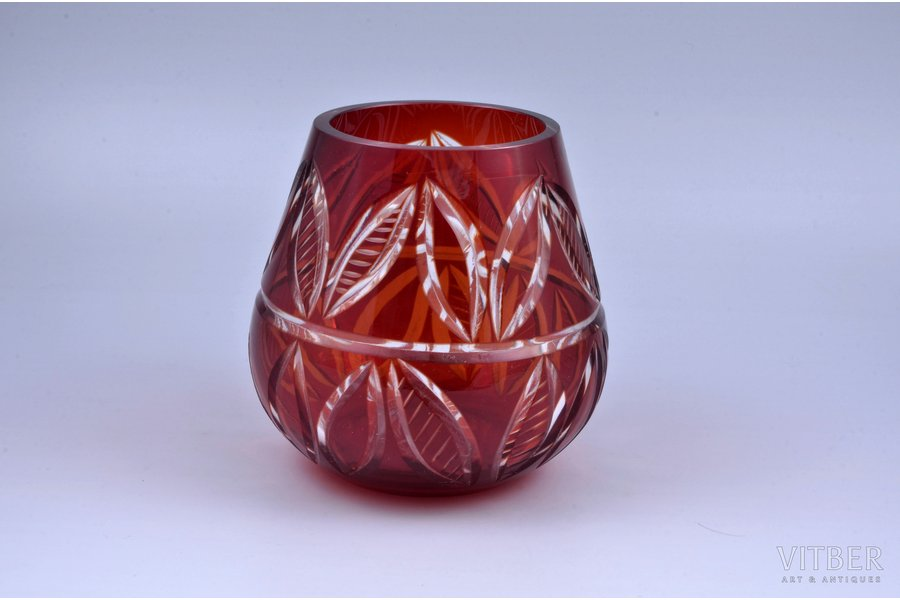 vase, Iļģuciems glass factory, Latvia, USSR, the 70-ties of the 20th cent., h 13.6 cm