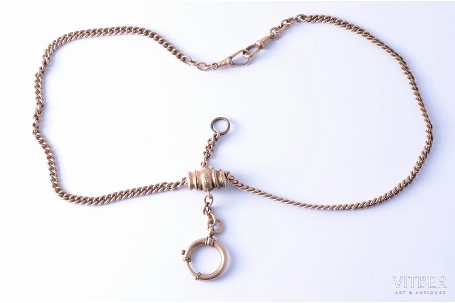 watchguard, gold plated, chain lenghth 33 cm