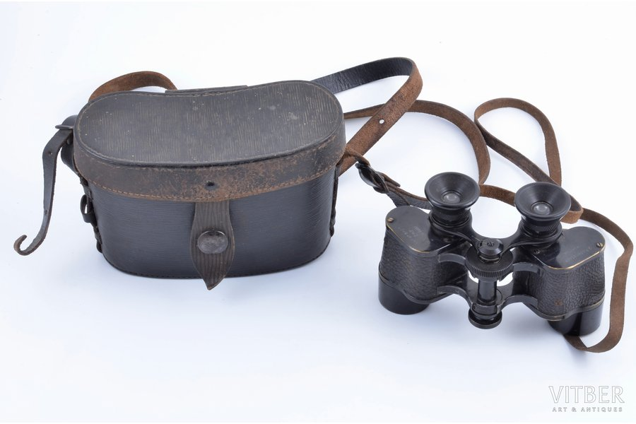 binoculars, G. Rodenstock, Germany, the 40ies of 20th cent., in a case