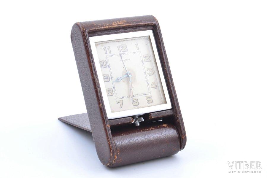 "дорожные часы, ""Jaeger-LeCoultre"", Швейцария, 10.6 x 6.4 x 2.5 см"