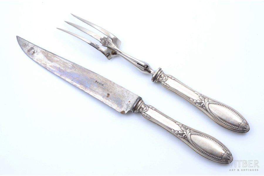 set of 2 flatware items, silver/metal, 800 standart, France, 31.9 - 27.5 cm