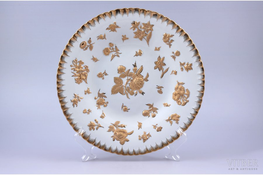 decorative plate, porcelain, Meissen, Germany, Ø 28.3 cm